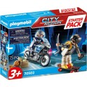 Playmobil 70502 - City Action - Starter Pack Motard de police et voleur