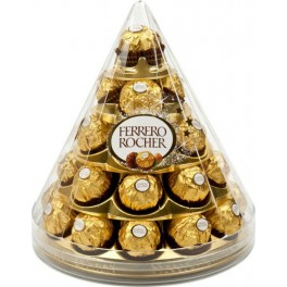 Ferrero Rocher Cône de Noël (28 bouchées) (Boîte de 28 bouchées)