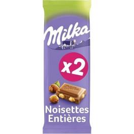 MILKA Tablette Chocolat aux Noisettes 2x100g