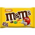 M&M's Cacahuètes enrobées de chocolat au lait et dragéifiées sachet 45g (lot de 6)